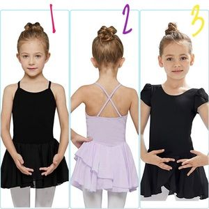 Pick 3!! NWT Size 2-4t Leotards w Attached Skirt